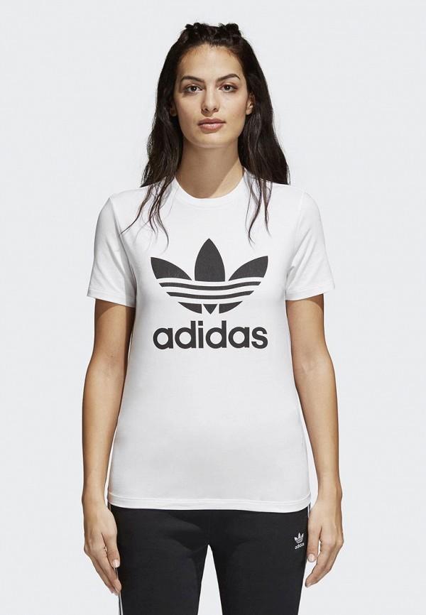 Купить Футболка adidas Originals, adidas Originals AD093EWALPA3, белый, Весна-лето 2018