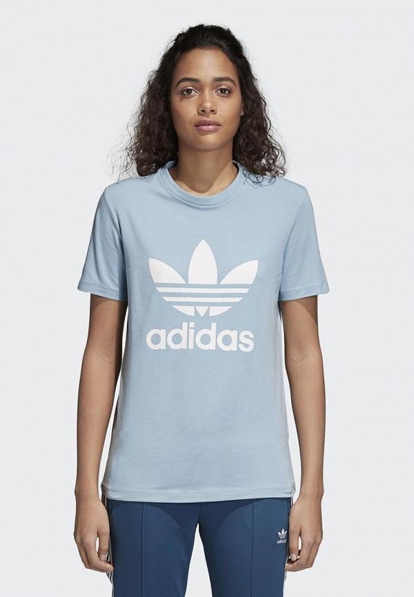 Купить Футболка adidas Originals, adidas Originals AD093EWALPA5, голубой, Весна-лето 2018