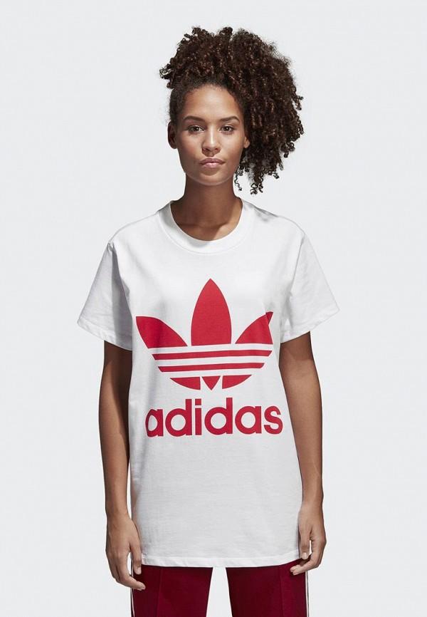 Купить Футболка adidas Originals, adidas Originals AD093EWALPC4, белый, Весна-лето 2018
