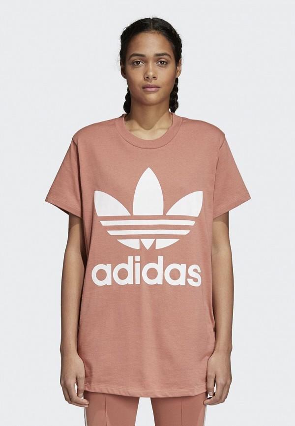 Купить Футболка adidas Originals, adidas Originals AD093EWALPD6, розовый, Весна-лето 2018