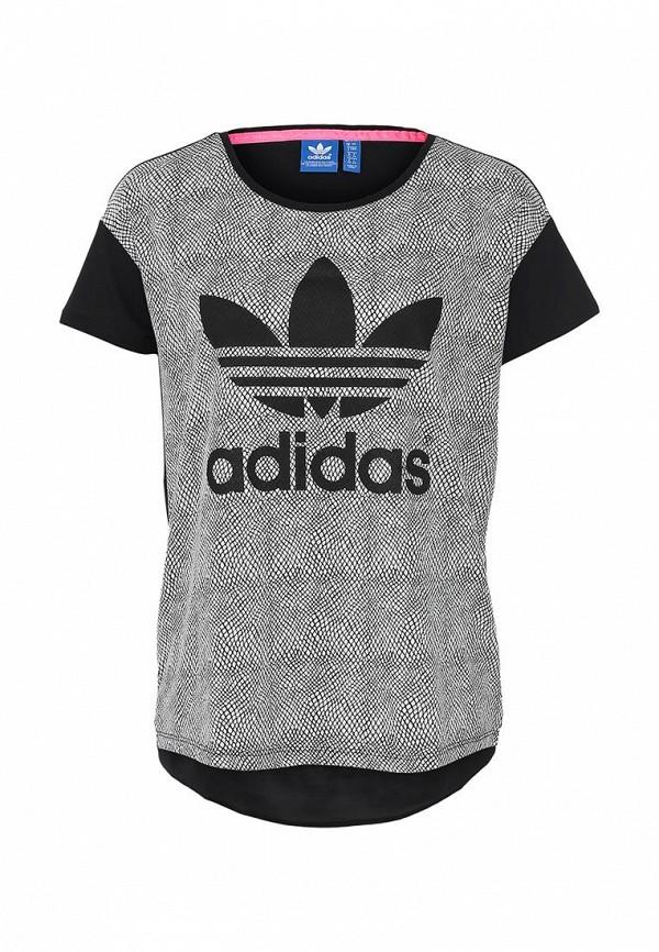Футболка с надписями Adidas Originals (Адидас Ориджиналс) M69762: изображение 1