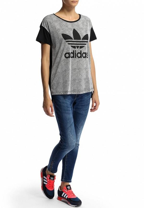 Футболка с надписями Adidas Originals (Адидас Ориджиналс) M69762: изображение 4