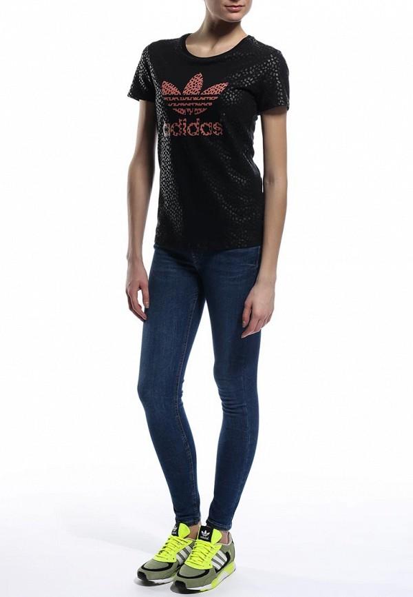 Футболка с надписями Adidas Originals (Адидас Ориджиналс) S18496: изображение 3