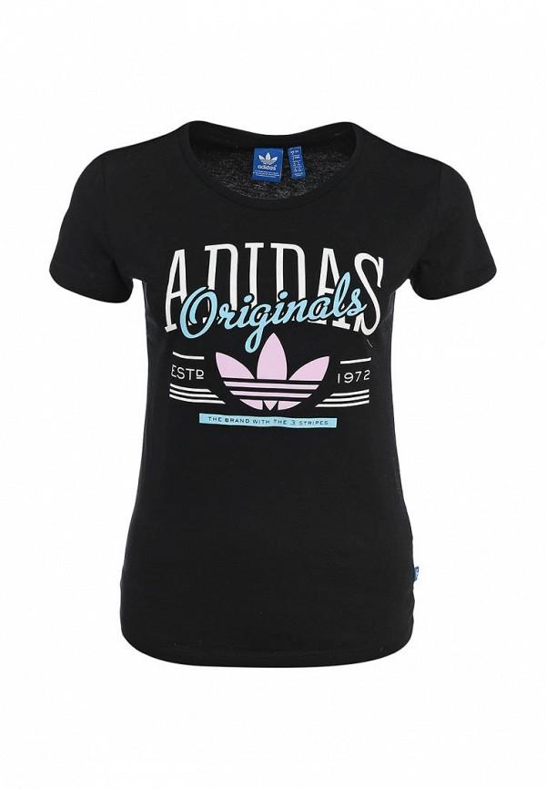 Футболка с надписями Adidas Originals (Адидас Ориджиналс) S18500: изображение 2