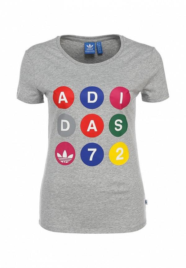 Футболка с надписями Adidas Originals (Адидас Ориджиналс) S18503: изображение 1