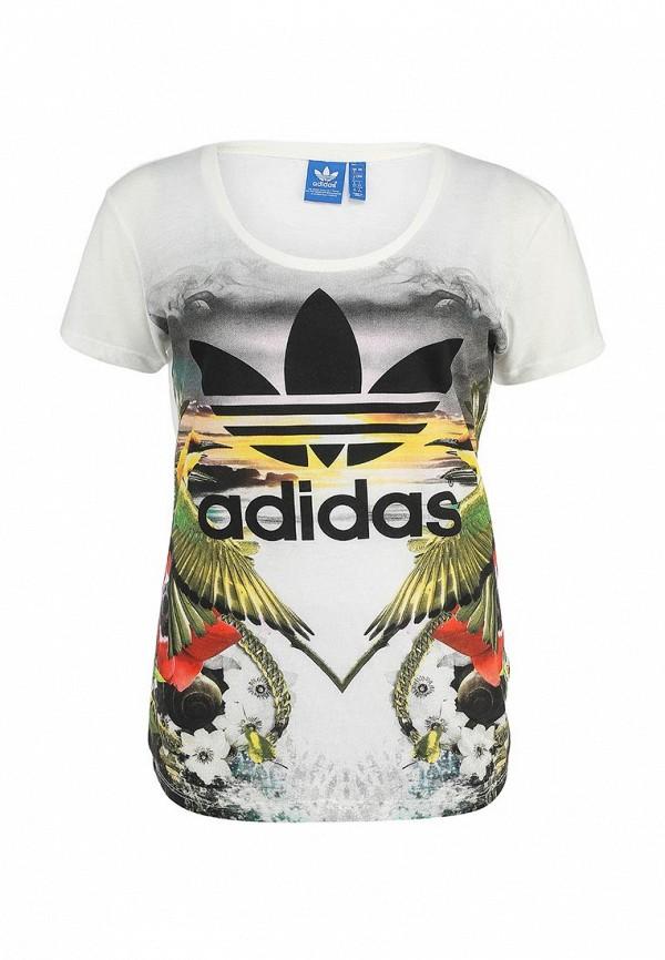Футболка с надписями Adidas Originals (Адидас Ориджиналс) S18507: изображение 1
