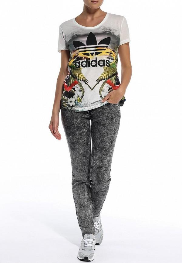 Футболка с надписями Adidas Originals (Адидас Ориджиналс) S18507: изображение 4