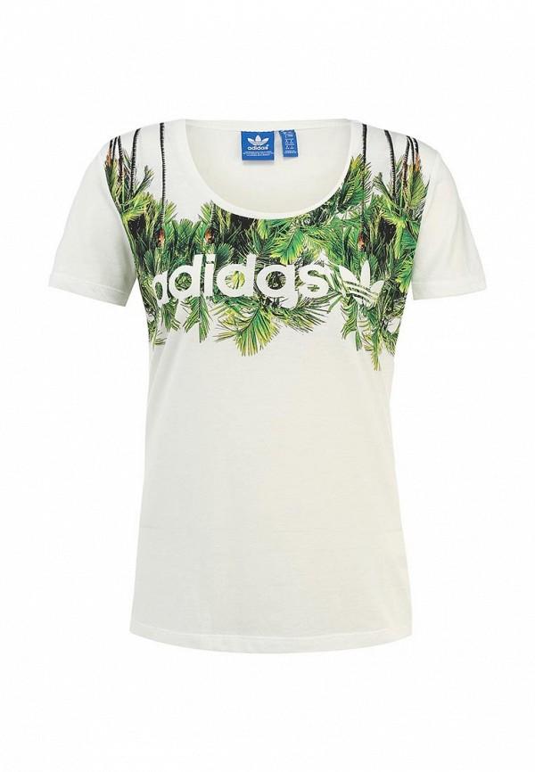 Футболка с надписями Adidas Originals (Адидас Ориджиналс) S18508: изображение 1