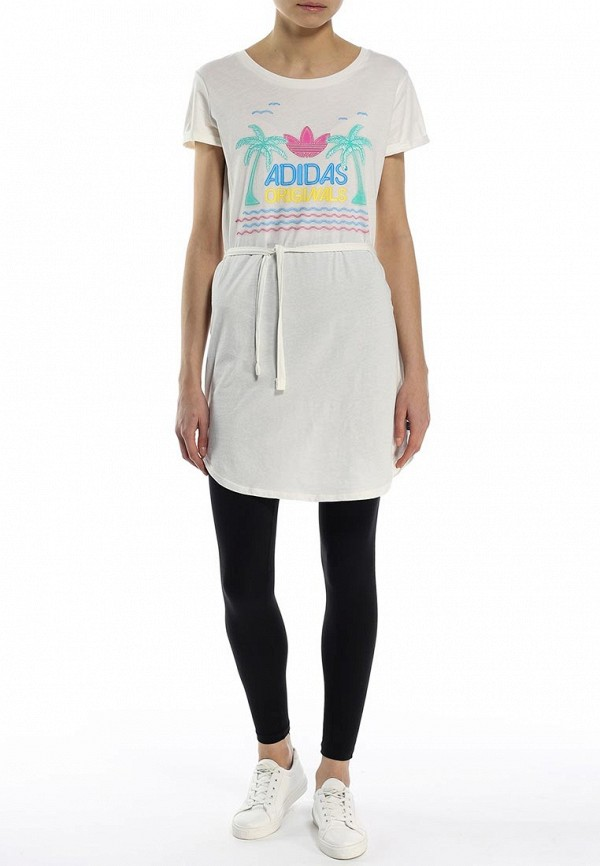 Платье-миди Adidas Originals (Адидас Ориджиналс) S18513: изображение 3