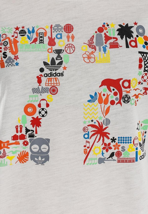 Футболка с надписями Adidas Originals (Адидас Ориджиналс) S19526: изображение 3