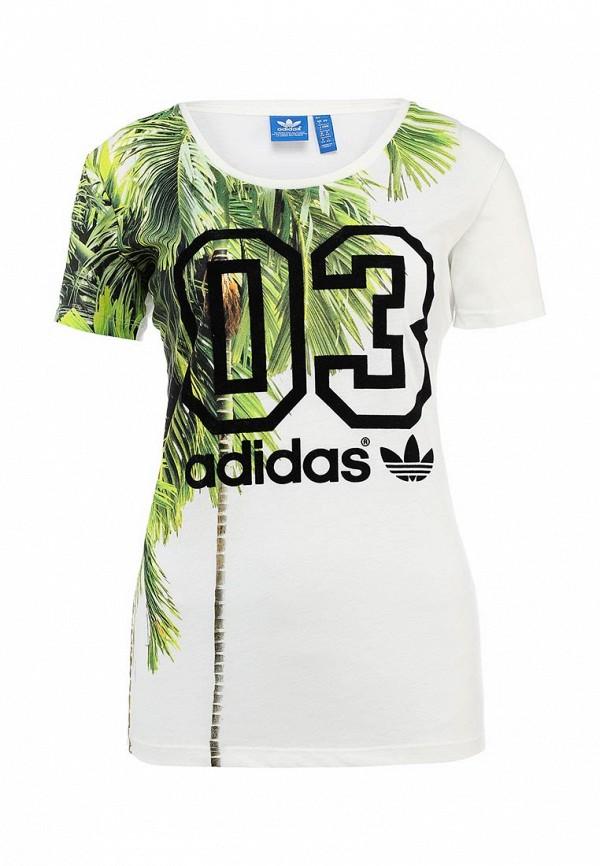 Футболка с надписями Adidas Originals (Адидас Ориджиналс) S19534: изображение 1
