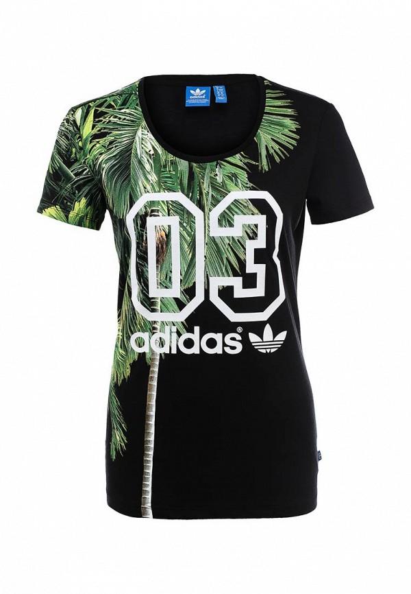 Футболка с надписями Adidas Originals (Адидас Ориджиналс) S19535: изображение 1