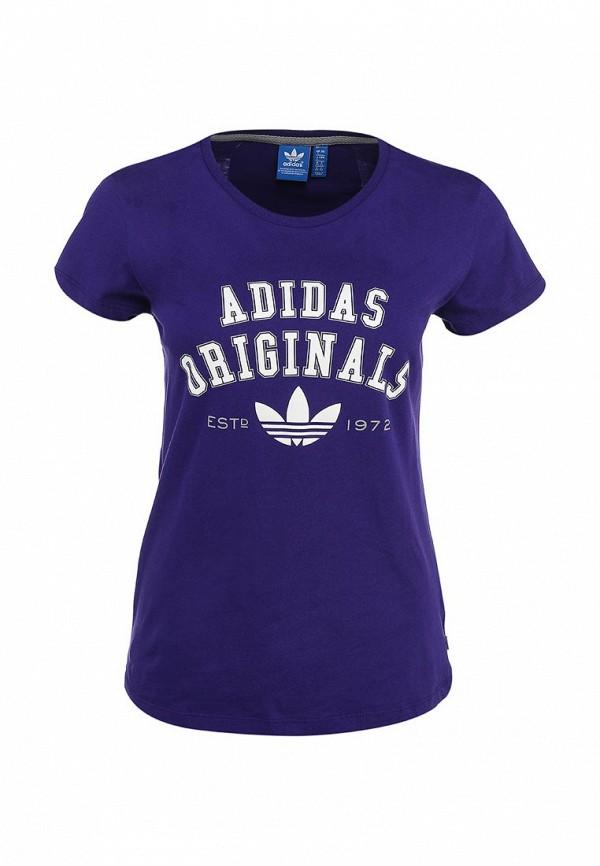 Футболка с надписями Adidas Originals (Адидас Ориджиналс) S19591: изображение 2
