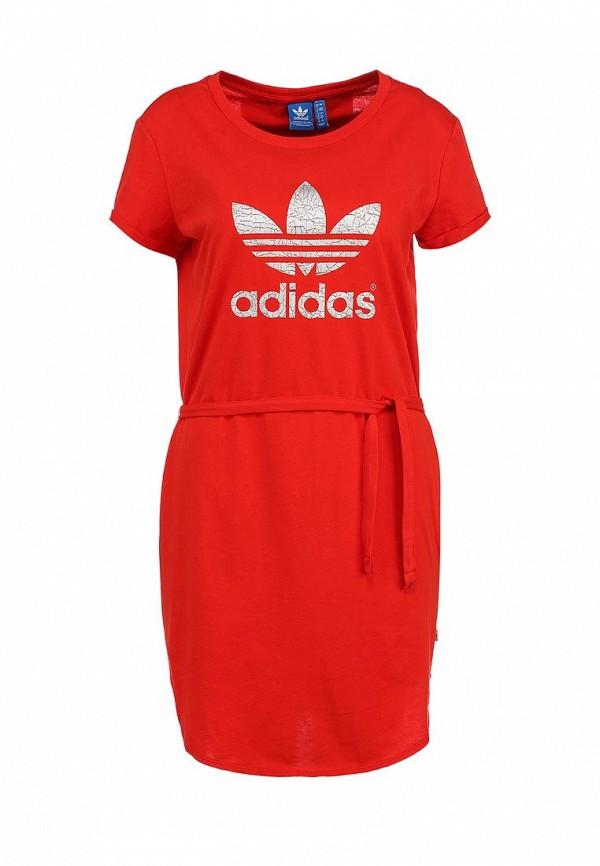 Платье-миди Adidas Originals (Адидас Ориджиналс) S19847: изображение 1