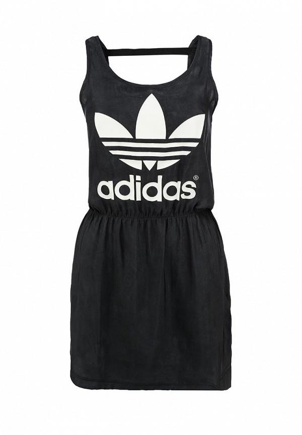 Платье-мини Adidas Originals (Адидас Ориджиналс) S20008: изображение 1
