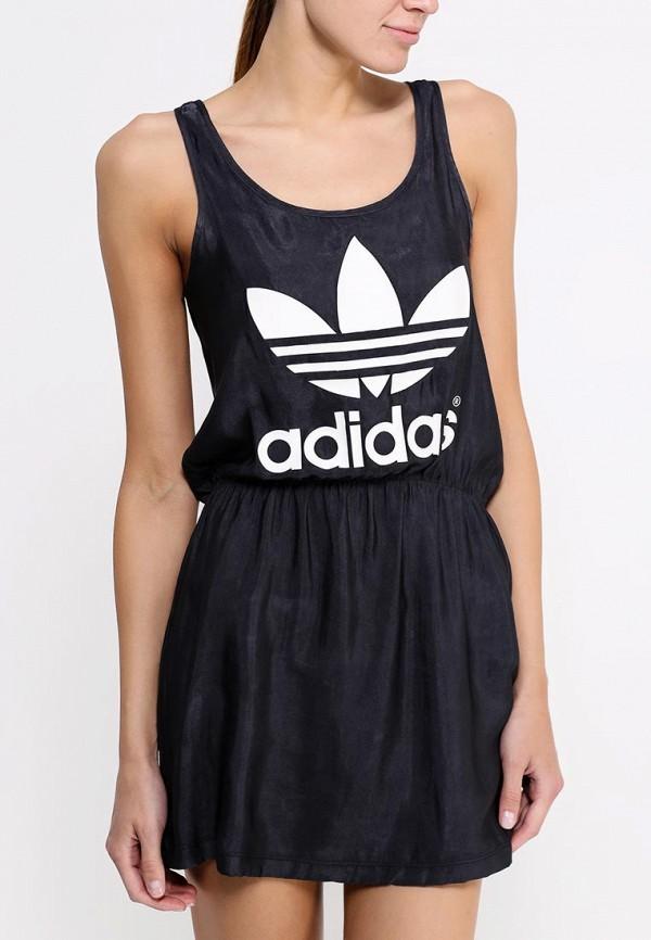 Платье-мини Adidas Originals (Адидас Ориджиналс) S20008: изображение 3