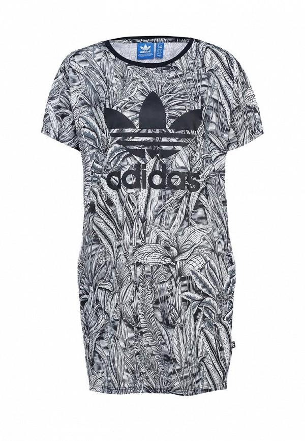 Платье-мини Adidas Originals (Адидас Ориджиналс) AB1996: изображение 1
