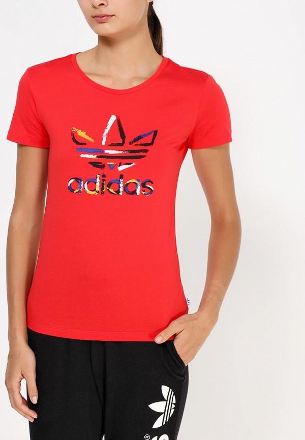 Футболка с надписями Adidas Originals (Адидас Ориджиналс) AB2191: изображение 2