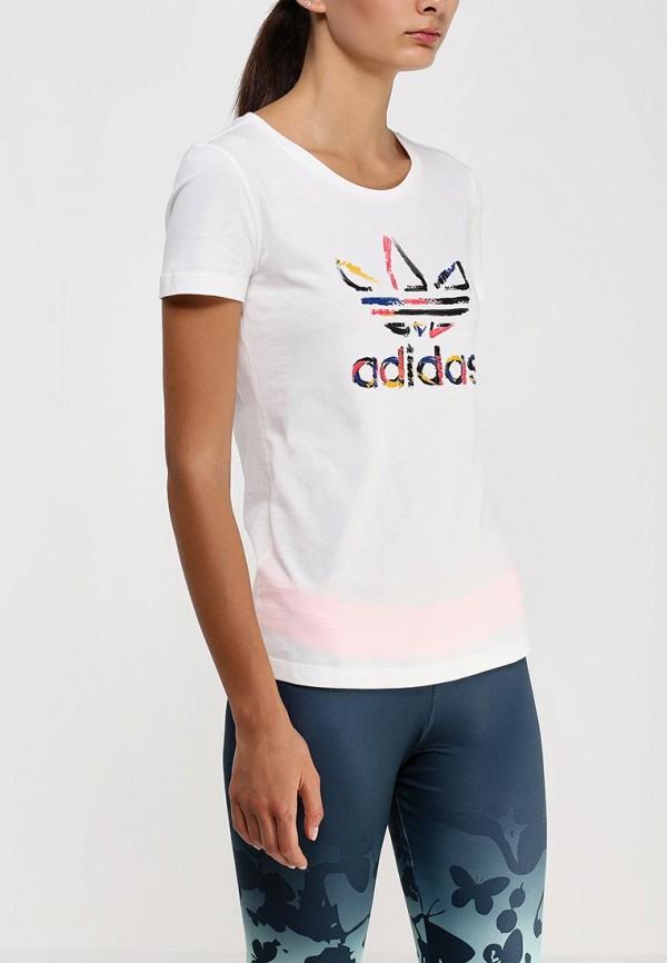 Футболка с надписями Adidas Originals (Адидас Ориджиналс) AB2192: изображение 2