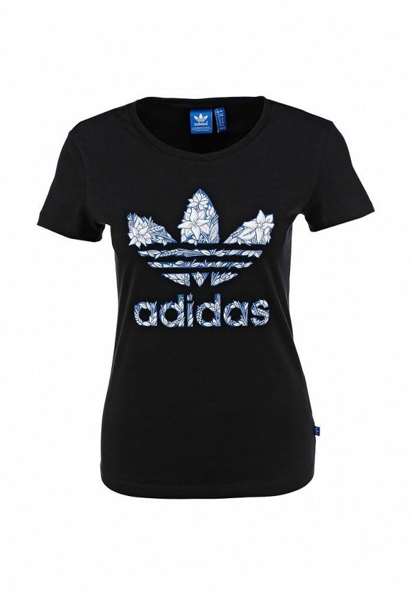Футболка с надписями Adidas Originals (Адидас Ориджиналс) AB6999: изображение 1