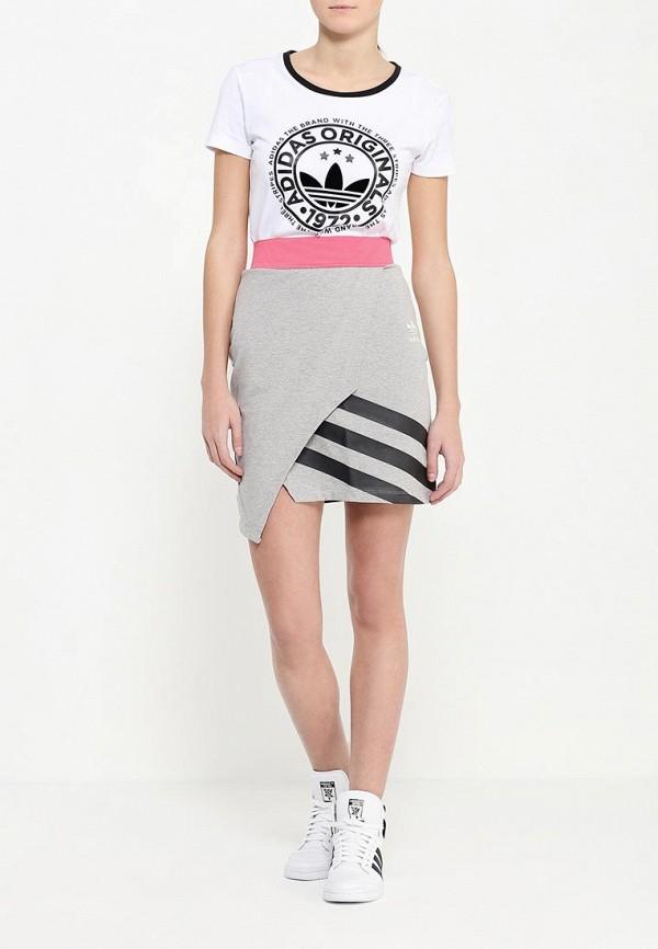 Мини-юбка Adidas Originals (Адидас Ориджиналс) AJ7163: изображение 2