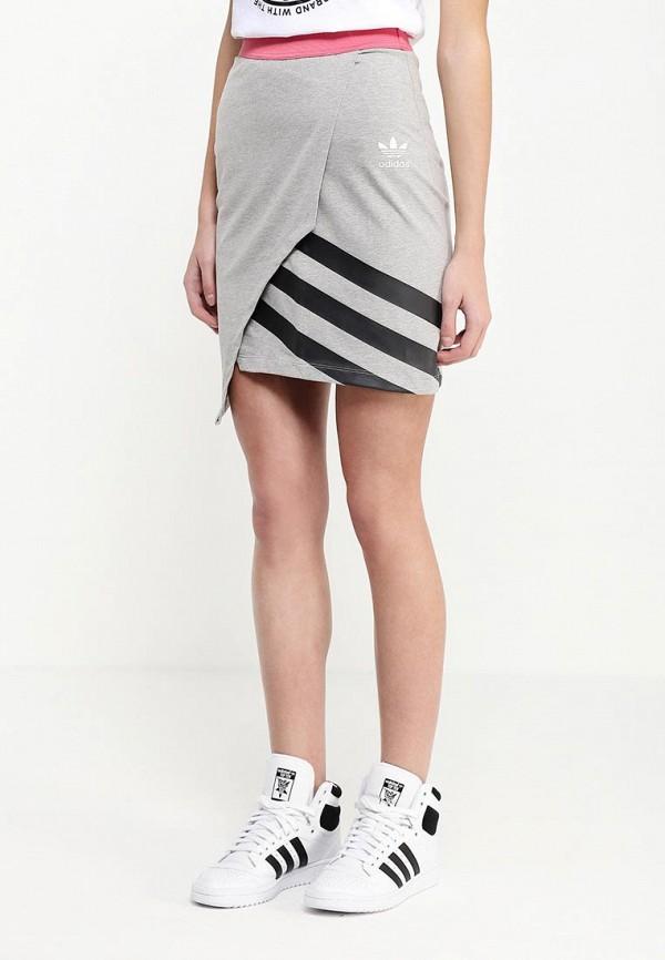 Мини-юбка Adidas Originals (Адидас Ориджиналс) AJ7163: изображение 3