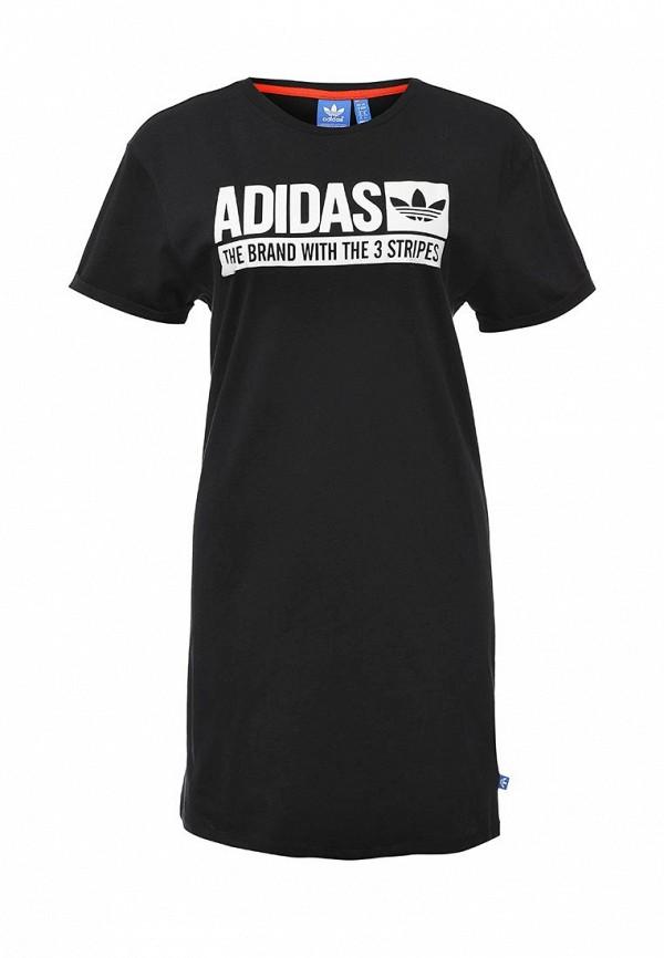Платье-мини Adidas Originals (Адидас Ориджиналс) AJ7647: изображение 1