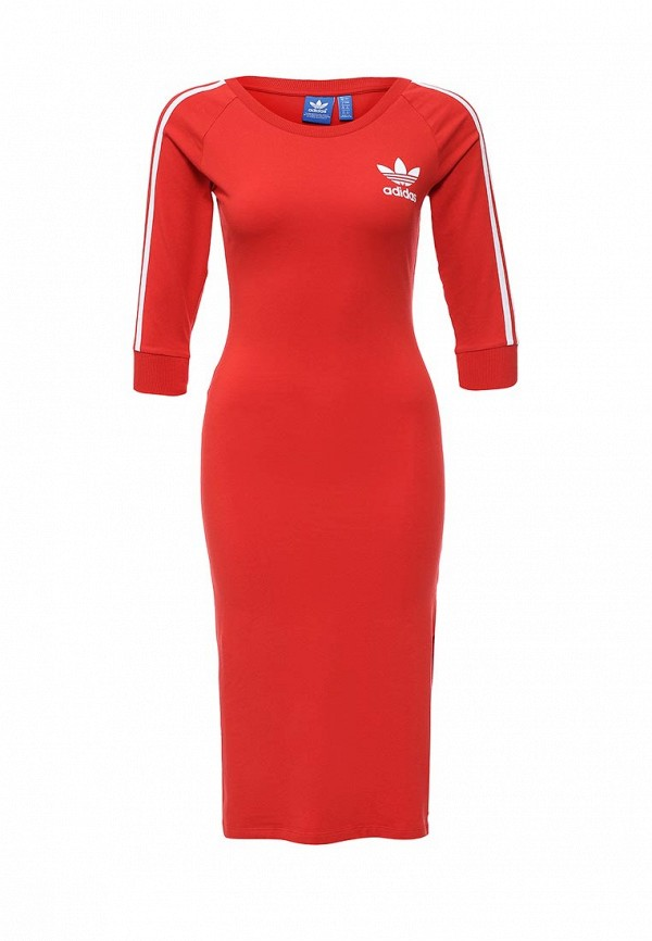Платье-миди Adidas Originals (Адидас Ориджиналс) AJ8164: изображение 2