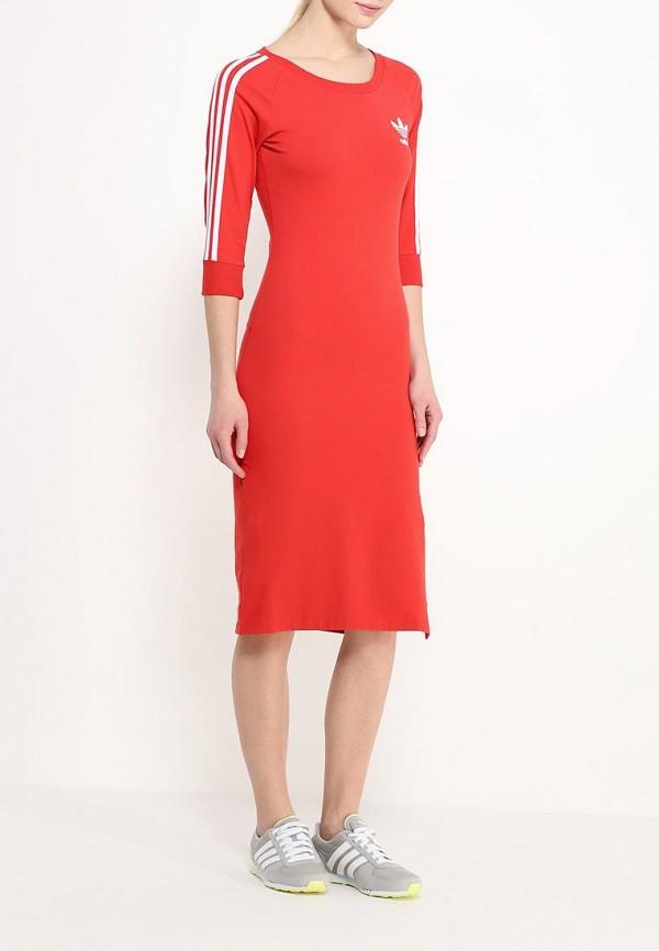 Платье-миди Adidas Originals (Адидас Ориджиналс) AJ8164: изображение 3