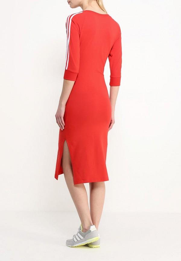 Платье-миди Adidas Originals (Адидас Ориджиналс) AJ8164: изображение 4