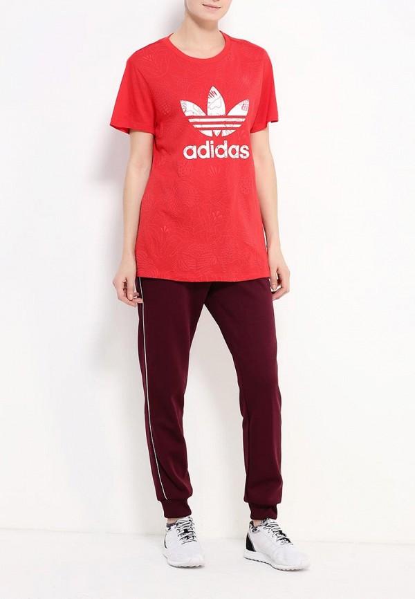 Футболка с надписями Adidas Originals (Адидас Ориджиналс) AY8019: изображение 2