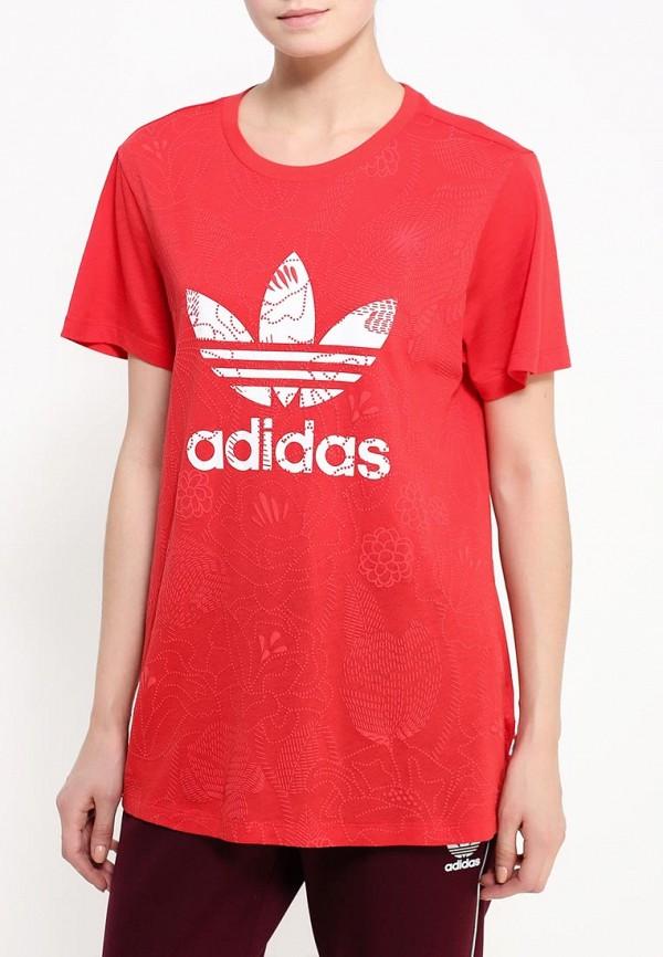 Футболка с надписями Adidas Originals (Адидас Ориджиналс) AY8019: изображение 3