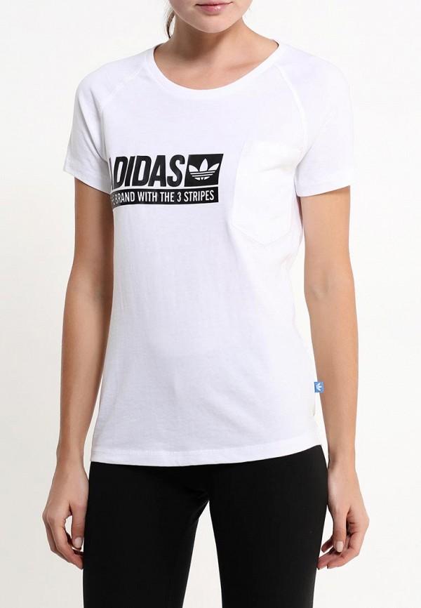 Футболка с надписями Adidas Originals (Адидас Ориджиналс) AJ7726: изображение 3