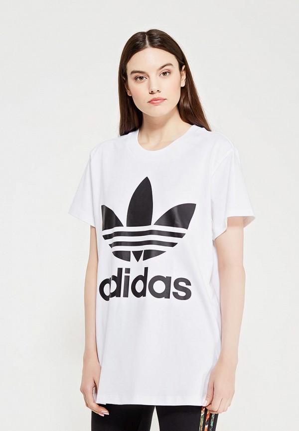 цена Футболка adidas Originals adidas Originals AD093EWUNQ58 онлайн в 2017 году