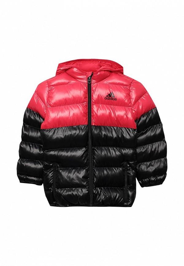 Куртка утепленная adidasКуртка утепленная adidas. Цвет: розовый. Сезон: Осень-зима 2017/2018. С бесплатной доставкой и примеркой на Lamoda.<br><br>Цвет: розовый<br>Коллекция: Осень-зима 2017/2018<br>Сезонность: зима, демисезон<br>Страна-изготовитель: Бангладеш<br>Пол: girls