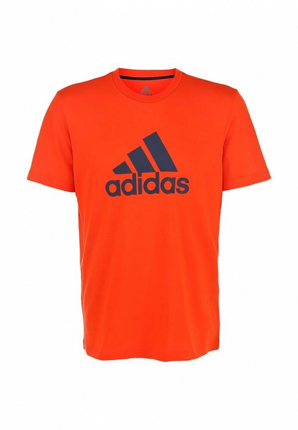 Футболка с надписями Adidas Performance (Адидас Перфоманс) M67503: изображение 1