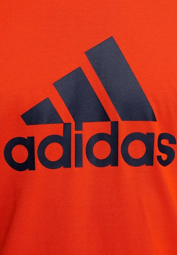 Футболка с надписями Adidas Performance (Адидас Перфоманс) M67503: изображение 3