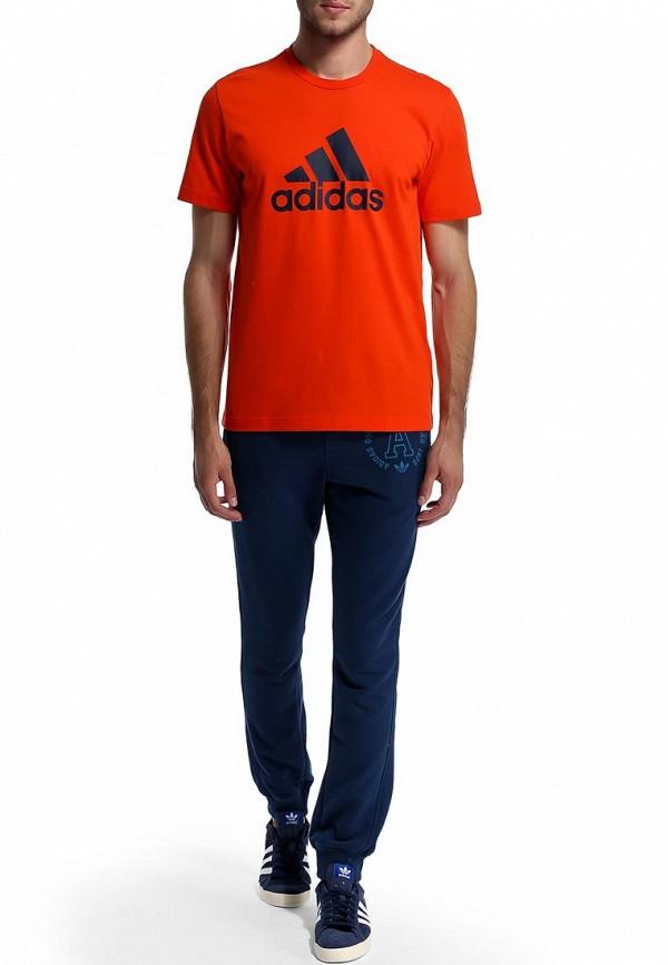 Футболка с надписями Adidas Performance (Адидас Перфоманс) M67503: изображение 5