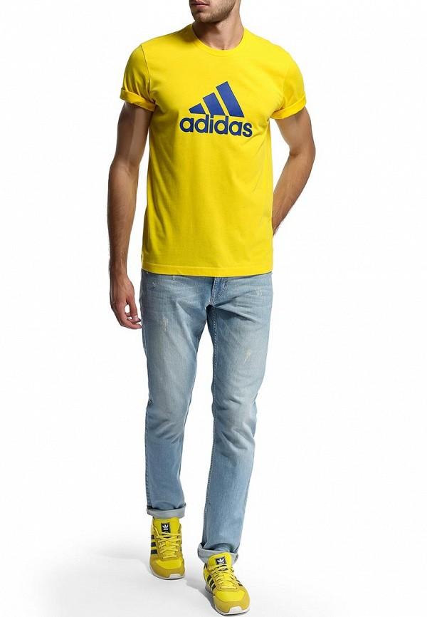 Футболка с надписями Adidas Performance (Адидас Перфоманс) M35964: изображение 5