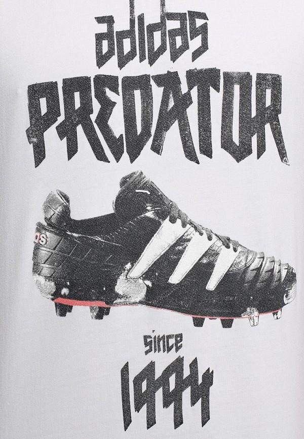 Футболка с надписями Adidas Performance (Адидас Перфоманс) M68863: изображение 3