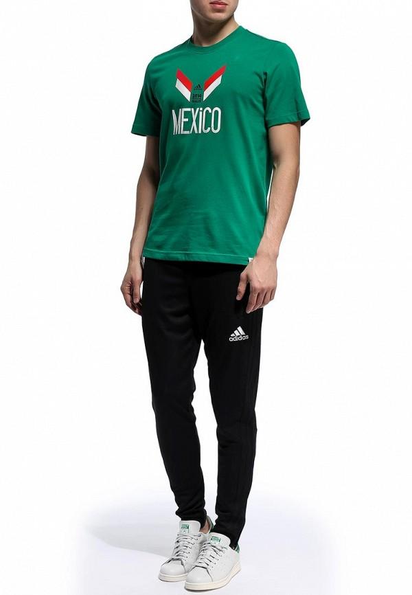 Футболка с надписями Adidas Performance (Адидас Перфоманс) F39508: изображение 3