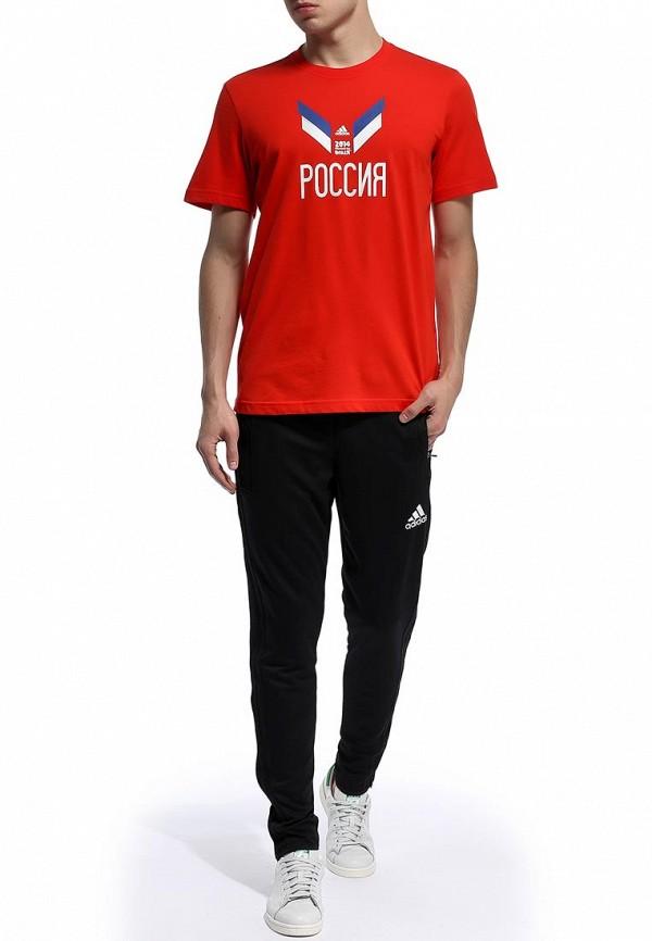 Футболка с надписями Adidas Performance (Адидас Перфоманс) F39512: изображение 4