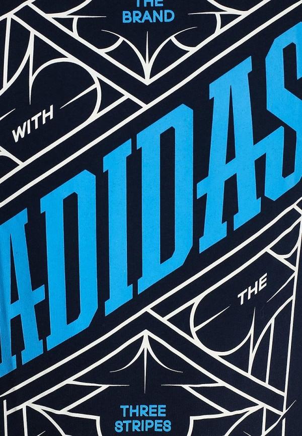 Футболка с надписями Adidas Performance (Адидас Перфоманс) S16575: изображение 3