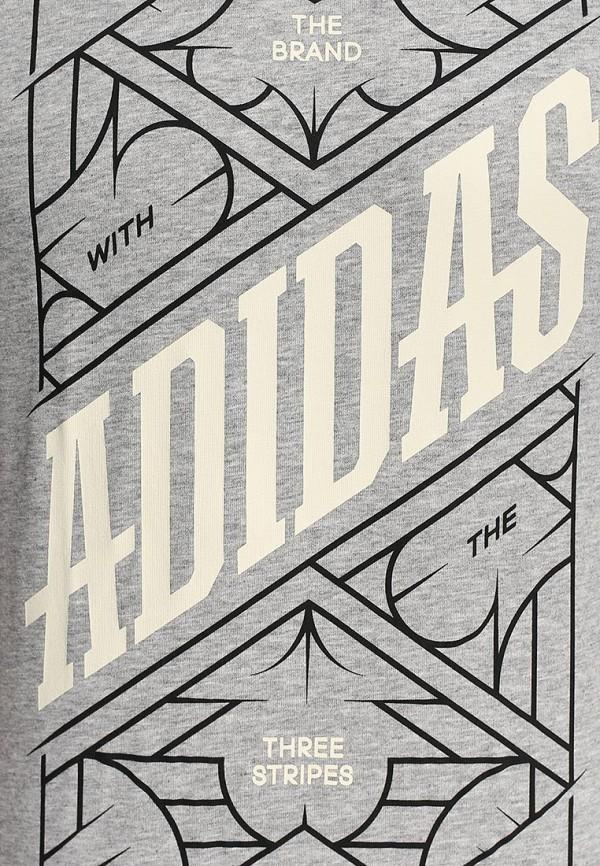 Футболка с надписями Adidas Performance (Адидас Перфоманс) S16576: изображение 3