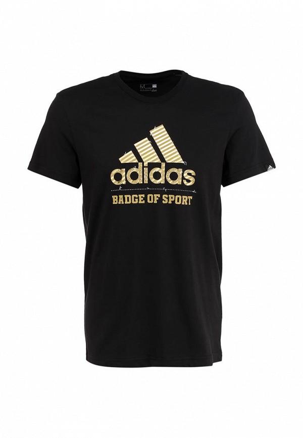 Футболка с надписями Adidas Performance (Адидас Перфоманс) S16608: изображение 2