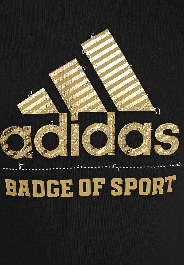 Футболка с надписями Adidas Performance (Адидас Перфоманс) S16608: изображение 3