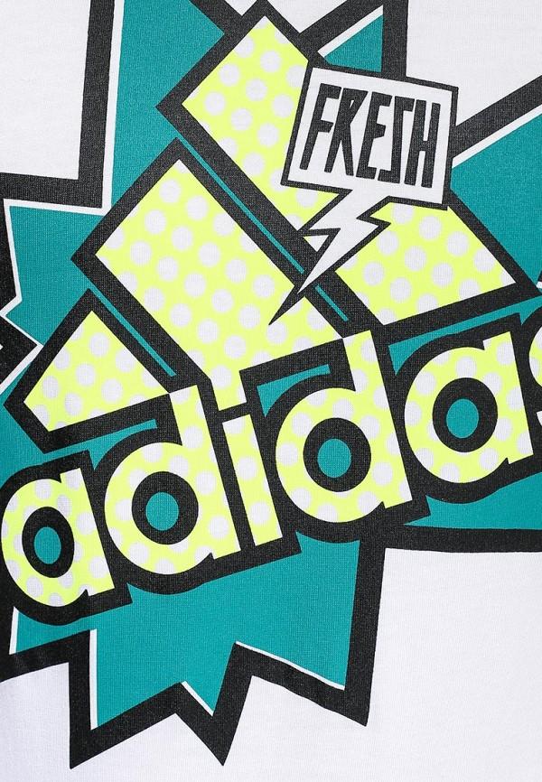 Футболка с надписями Adidas Performance (Адидас Перфоманс) S16634: изображение 2