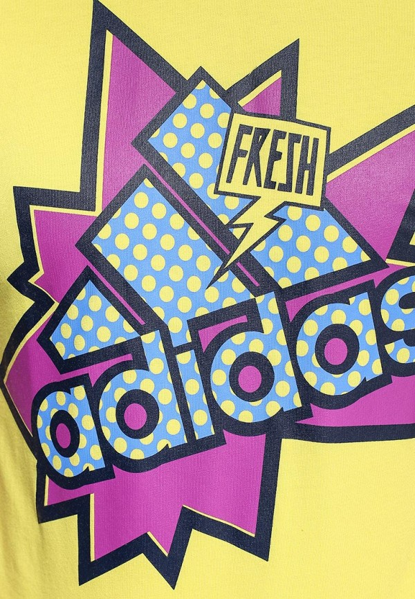 Футболка с надписями Adidas Performance (Адидас Перфоманс) S16635: изображение 2