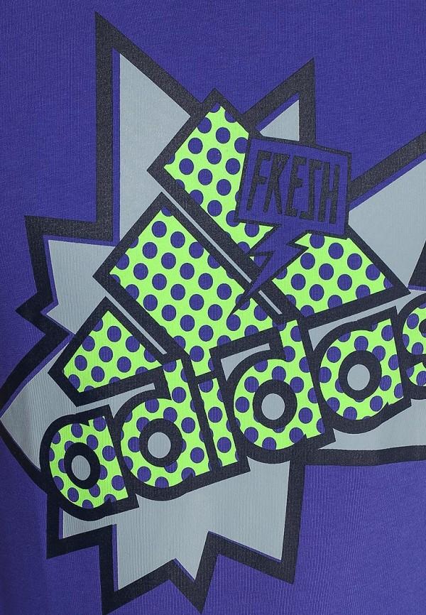 Футболка с надписями Adidas Performance (Адидас Перфоманс) S16638: изображение 3