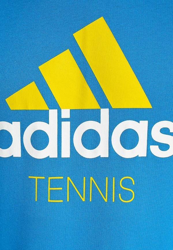 Футболка с надписями Adidas Performance (Адидас Перфоманс) S16833: изображение 2